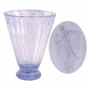 Art Deco Lavender Crystal Vase